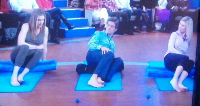 Dr Oz and audience members try out the MELT Method