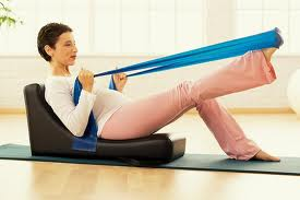 The spine corrector helps ensure proper blood flow to your baby during your workout.