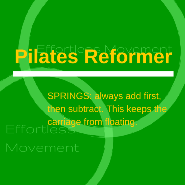 pilates spring rules