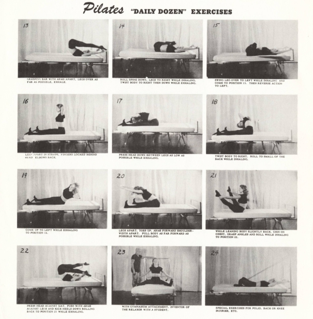 Pilates Relaxor Bed exercises